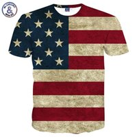 sexy amerikanische flagge großhandel-Flagge T-shirt Männer / Frauen Sexy 3d T-shirt Druck Gestreifte Amerikanische Flagge Männer T-shirt Sommer Tops Tees Plus 3XL 4XL