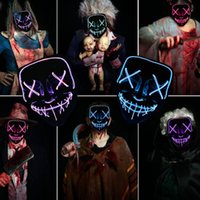 Wholesale dress housings for sale – best 2019 New Halloween night Lights mask Ghost house ghost horror mask KTV party Dress up mask skull maskT2I5036