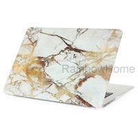 macbook pro decalques venda por atacado-Projeto de granito de mármore de plástico de cristal case capa protetora shell manga para macbook air pro retina 11 13 15 polegada decalque casos de água amostra
