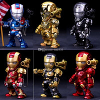 Wholesale best new toys for kids resale online - Iron Man Alloy Metal Doll CM High Quality Model Toys Collection Decoration Iron Man Best Gifts For Kids Toys