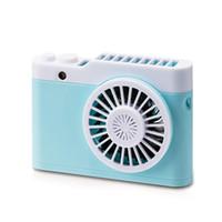 Wholesale camera pc portable resale online - Hot sale Tabletop PC Fan Mini Portable Fan Camera Shape USB Rechargeable Hanging Fan