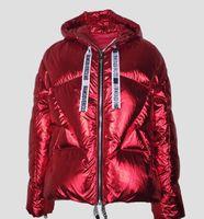 ağır bayanlar toptan satış-ceket parkalar aşağı Moda bayanın kırmızı ceket Ağır ceket kadın