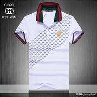 camisas de hombre de lujo formal al por mayor-Camiseta de lujo de verano con diseño de polo camisa de calle bordada polo de los hombres ropa polo de los hombres
