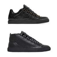 ingrosso stivali di cuoio mens 47-Sneakers fashion arena high top Designer Shoes pelle sgualcita da uomo sneakers donna grigio top sneakers basse stivali comodi taglia 36-47