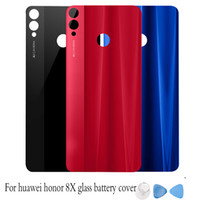 Wholesale adhesive logo stickers resale online - Fashion Rear Housing Cover For Huawei Honor X Glass Battery cover Back Door Replcement for honor8x with logo Adhesive Sticker