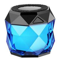 woofer bluetooth portátil al por mayor-TWS BS02 Mini Bluetooth woofer Diamante Diseño Portátil Luz colorida Inalámbrico Altavoz Inalámbrico Soporte Manos Libres Llamada Regalo