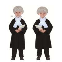 ingrosso abito avvocato-Costumi New Kids Boy Girl Avvocato costume dei bambini Giudice Cosplay costume di Halloween per i bambini rifornimenti Party Dress