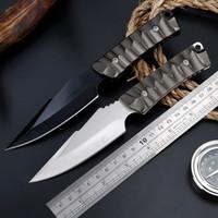 kostenloses kreditkartenmesser großhandel-BENYS Cold Steel Super Edge Mini Camping Angeln Taktisches Überleben Gerade Messer Schneiden Seil EDC Werkzeug karambit Messer