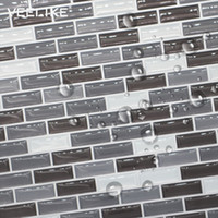 мозаичные клеи оптовых-3D  PVC Mosaic Tile Wall Stickers Home Decor Kitchen Backsplash Anti Oil Waterproof Self adhesive Wallpaper for Bathroom