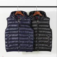 abajo abrigos con capucha mujer tallas al por mayor-Del diseñador del Mens del chaleco de la chaqueta con capucha de invierno gruesa capa Marca rompevientos abajo Cremalleras lujo manera de las tapas estilo de los hombres de las mujeres de Asia Tamaño XS-4XL # Y71