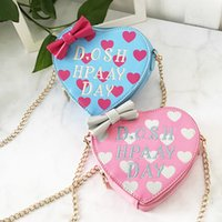 Wholesale computer hearts online - Cute Girl Bowknot Shoulder Bags Crossbody Bag Coin Purse Fashionable Chain Bag Fa1 Women Bag
