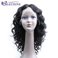 Wholesale brazilian human hair extensions wigs for sale - Group buy BEAUDIVA Body Wave Lace Front Human Hair Wigs For Women Pre Plucked Brazilian Hair Extension Remy Hair Wigs Bleached Knots