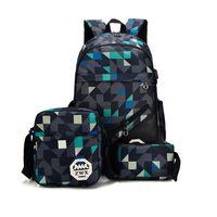 kombine sırt çantası toptan satış-Yüksek kalite 3 ps kombinasyonu sırt çantası tasarımcı sırt çantası çanta omuz çantası büyük kapasiteli okul çantalarını okul çantası açık çanta ücretsiz kargo