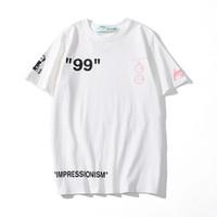 t-shirt drucke großhandel-OFF Herren Designer T Shirt Italien Marke T-Shirt Mode Shirts Top-Qualität Brief Druck Sweatshirt Private benutzerdefinierte Boutique Luxus T-Shirts