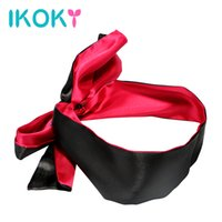Wholesale mask sex parties for sale - Group buy IKOKY Red with Black SM Bondage Adult Games Sex Toys for Couple Blindfold Role Play Party NightLife Sex Eye Mask Erotic Toys C18112701