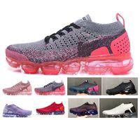 Wholesale soft shock shoes for sale - 2018 New M vapormax s designer air cushion MOC FK Men Women LACELESS FUTURISM Running Shoes Shock Jogging Sneakers oreo Size