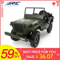 ingrosso jeep di rc dell'automobile-Commercio all'ingrosso Q65 1:10 RC Car 2.4G 4WD Convertibile Telecomando Luce Jeep A quattro ruote Drive Off-Road Militare Arrampicata Car Toy Regalo Del Capretto