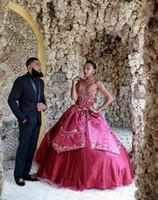 afrikan aplike nakışı toptan satış-Güney afrika Sevgiliye Nakış Balo Prenses Quinceanera Modelleri Dantel aplike kabarık lace up zarif akşam örgün elbiseler 2019