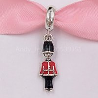 Wholesale soldiers toys for sale - Group buy Authentic Sterling Silver Beads Toy Soldier Pendant Charm Fits European Pandora Style Jewelry Bracelets Necklace ENMX