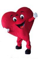 traje de coração adulto venda por atacado-Dia das bruxas Amor Red Heart Mascot Costume Top Quality Adulto Tamanho Dos Desenhos Animados Doação de Sangue Prop Natal Carnaval Party Costumes Frete Grátis