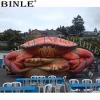 Wholesale food advertising for sale - Group buy Customized lifelike Giant Inflatable Crab for advertising Inflatable Sea Food for Mall Decoration