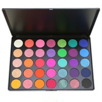 Wholesale retail eye shadow for sale - Group buy Waterproof Long lasting E Eye shadow makeup bright colors pressed powder palette easy to wear with retail box DHL Free eyes cosmetics