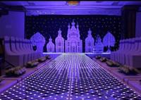 accesorios de decoración de la boda al por mayor-Espejo piso 60 * 60 cm Brillo LED Flash Espejo Alfombra Pasillo Corredor Bar Club Boda T Estación Decoración de escenario Accesorios Nueva llegada EEA481