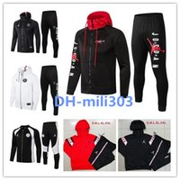 Wholesale men s hoodie tracksuit for sale - Group buy 2019 PSG Jordam X jacket hoodie Champions League Survetement Paris MBAPPE football jackets psg air jordam jacket tracksuit
