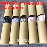 tubo en caja al por mayor-Invierno Unisex 100% Cachemira Bufanda Classic Check Bufandas Mujeres Hombres Pashmina Designer Shawls Bufandas con caja de tubo de rollo