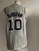 Wholesale polo jersey shirt online - 10 Demar Spurs DeRozan Men s Basketball Jerseys New Fashion Black White Jersey Size S XXL Men polo shirt