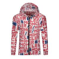 fermuarlar yaz ceketleri toptan satış-2019 Moda Yeni Yaz Marka Mektup Baskı M Ceket Giysi Güneş Fermuar Ceket ile Koruma Ceket 29