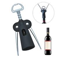 vinho de liga de zinco venda por atacado-Nova garrafa de vinho abridor de bomba garrafa de garrafa de cortiça de plástico com zinco liga abridor de garrafas de braço