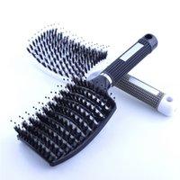 щетка для головы оптовых-Новая щетка для волос скальп щетка для волос расческа профессиональные женщины клубок парикмахерские принадлежности кисти инструменты расчески для волос