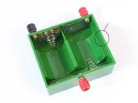 d держатели батарей оптовых-1.5V X2 X4 D Boxs батареи Держатель D батареи Замкнутой Boxs Box зеленый 3V 6В батарея D
