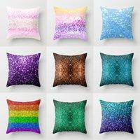 cojines de colores al por mayor-Colorido Funda de almohada Cojín Suave Impreso Throw Pillow Case Irregular Patrón Funda de Cojín Home Sofá Coche Decoración 30 Estilo HH7-2014