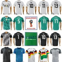 55e07c3cc Germany Jersey 2018 World Cup Soccer 13 MULLER 23 GOMEZ 10 OZIL 7 DRAXLER  11 REUS Football Shirt Kits National Team 17 BOATENG