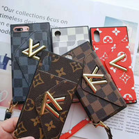 Wholesale New Wallet Style Phone Case for IPhoneXSMAX XR XS P P sP s Designer Card Pocket Style Phone Case Full Protective Brand Case