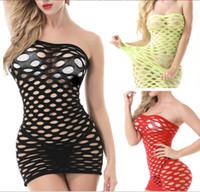 ingrosso set di seta rossa di lingerie-Yuedie Europa e Stati Uniti attraversano il confine di una generazione di pigiami da donna con gonna corta a rete sexy con pochette e lingerie sexy da donna