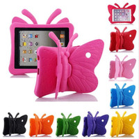 Wholesale new tablet for kids online - Butterfly Stand EVA Shockproof Tablet Cover for iPad Air Air2 mini Pro New iPad inch Kids Case