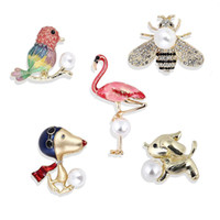 Wholesale pins animal jewelry for sale - Group buy Pins Animals Jewelry Bee Insect Parrot Bird graceful Brooches For Women Luxury Jewelry Gift Costume Brooches