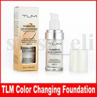 make-up-stiftung gesicht farbe groihandel-TLM Flawless Color Changing Foundation Warme Hautfarbe Gesicht Make-up Basis Nude Facial Feuchtigkeitsspendende Flüssigkeit Abdeckung Concealer