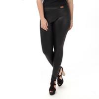 ingrosso pantaloni in spandex in pelle-Pantaloni delle donne 2020 donne oversize Pantaloni autunno-inverno di cuoio falso alta vita sottile sexy dell'anca matita nera Pantaloni M823