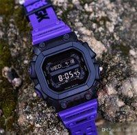 ingrosso grandi orologi a led-Mens New Fashion G Style Watches 2019 Uomo Uomo Quadrato Grande quadrante in gomma Bracciale Orologi da polso Orologio da polso al quarzo di alta qualità Shock LED Saat