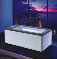 Wholesale ozone light for sale - Group buy 1700mm Whirlpool Ozone Sterillization Bathtub Acrylic Hydromassage Thermostatic Surfing Colourful LED Lights Double Waterfall Tub NS1101BK1