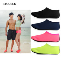 Wholesale rubber shoes for dancing resale online - Beach Swimming Socks Water Socks Anti Slip Yoga Fitness Dance Swim Surfing Diving Shoes Underwater Shoes For Men Women