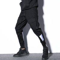 lápis japoneses venda por atacado-# 2311 Moda Carga Preta Calças Homens Hip Hop Multi-bolsos Primavera Negra Outono Lápis Harem Pants Mens Streetwear Japonês M-XXL
