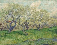Wholesale canvas art oil painting blossom for sale - Group buy Vincent Van Gogh Oil Painting On Canvas Wall Decor Orchard In Blossom Home Decor Handpainted HD Print Wall Art Canvas Pictures