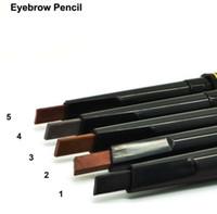 Wholesale eyebrow makeup online - Waterproof Longlasting Make up Black Brown Eyebrow Pencil Eye Brow Liner Professional Makeup Make Up Comestic Tools