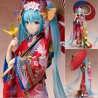Wholesale miku toy figures for sale - Group buy New Hot cm Hatsune Miku Kimono Action Figure Toys Doll Collection Christmas Gift With Box Y19062901