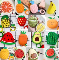 Wholesale packaging for wine resale online - Pineapple Pineapple Watermelon banana Avocado cartoon For Airpods Cases Silicone Soft Protector Airpods Cover Earpod Case air pods airpod